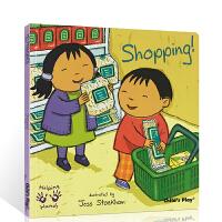 英文原版绘本Helping Hands Shopping 好帮手系列 购物 吴敏兰书单 child's play 儿童