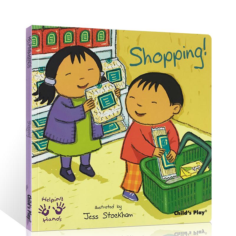 英文原版绘本Helping Hands Shopping 好帮手系列 购物 吴敏兰书单 child's play 儿童图文书
