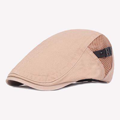 帽子男春夏天棉质鸭舌帽韩版潮中青年贝雷帽休闲秋季英伦前进帽
