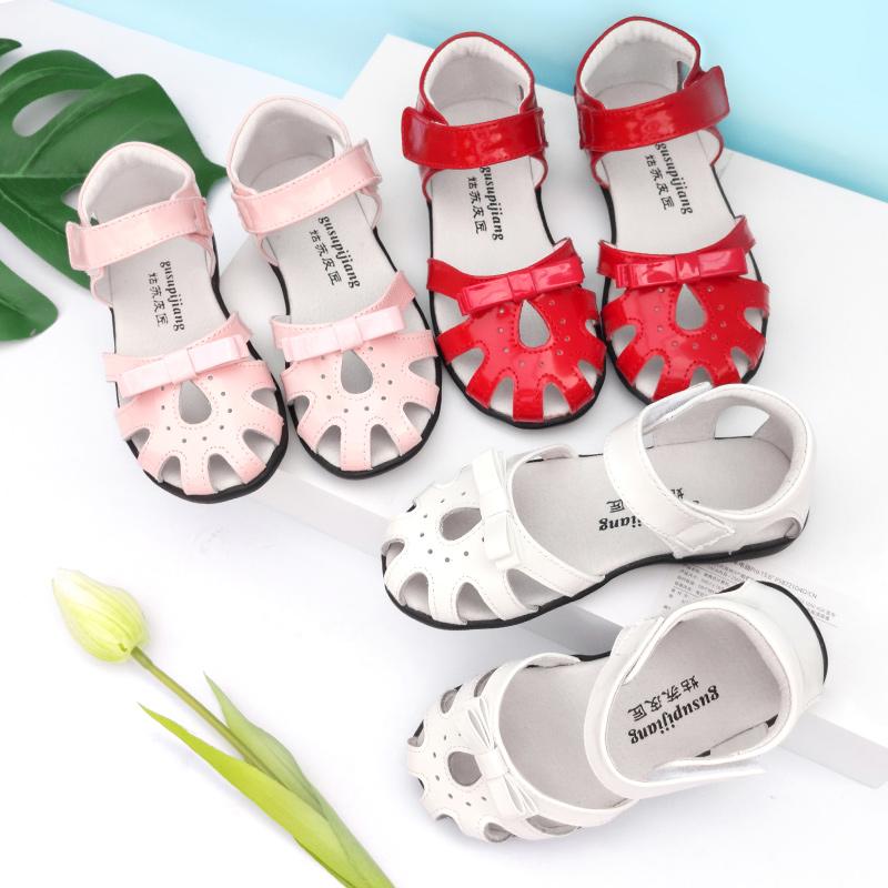 宝宝凉鞋女软底夏季小公主鞋子女童包头防滑真皮儿童凉鞋