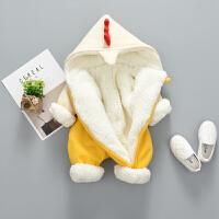 婴儿冬装0一1岁男女宝宝衣服秋季婴幼儿抱婴服秋冬连体衣