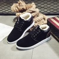 冬季棉鞋男士短靴加绒加厚保暖靴子韩版潮流休闲板鞋雪地靴男