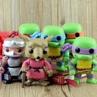 电影真人动画Q版忍者神龟公仔手办 老鼠车载摆件可动玩偶儿童玩具