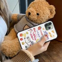 iphone11手�C�ぬO果x潮牌玻璃iphonexr卡通xsmax暴瘦11Promax全包xmax防摔XR�W�tmaxPr