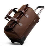 拉杆包旅行包女牛津布旅行箱男大容量行李袋时尚行李包出差、手提包
