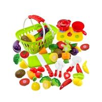 切切看过家家厨房玩具套装 儿童水果蔬菜切切乐仿真切水果玩具