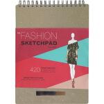 英文原版 The Fashion Sketchpad 420 Figure Templates 服装设计时尚素描簿 螺