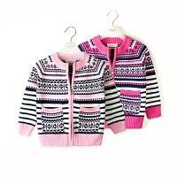 女童毛衣女孩宝宝针织拉链衫儿童中大童毛衣童装