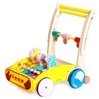 �W步�手推� �����W步�手推�一�q�和�玩具���W走路木�|助步�0-1-3�q小孩