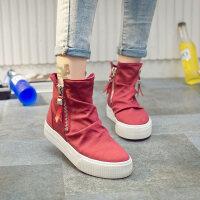 高帮帆布鞋女韩版ulzzang潮学生原宿百搭2018新款嘻哈ins休闲板鞋