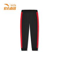 【3折价65.7】安踏童装男童针织长裤儿童运动裤休闲裤子A35848749