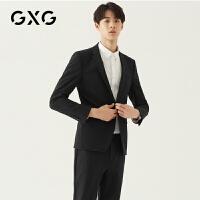 【新款】GXG男装 2020秋季商务西服黑色西装外套单西男GA101567E