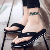 新款夏季男士沙滩鞋人字拖休闲潮流凉拖鞋夹脚滑