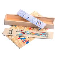 竹签游戏 儿童亲子游戏棒彩色数数棒挑花棒木制撒棍竹签7890后怀旧玩具