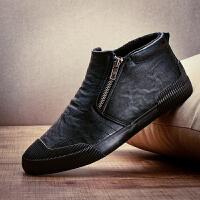 高帮鞋男鞋韩版潮流男士休闲皮鞋棉鞋男冬季保暖加绒加厚高邦板鞋