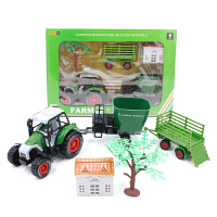 儿童玩具车合金回力声光儿童农夫车农场用拖拉机合金车模型玩具车