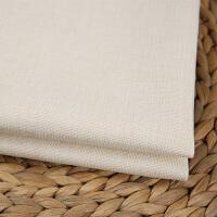 素色加厚亚麻沙发布料纯色棉麻田园面料桌布抱枕坐垫背景软包k