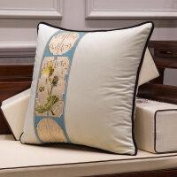 新中式沙发抱枕靠垫绒面含芯1138现代简约客厅家用大靠枕枕套腰枕