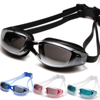 电镀平光泳镜 大框防进水防雾 游泳眼镜 男女