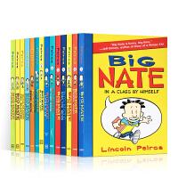 英文原版 Big Nate 我们班有个捣蛋王 大内特系列14册合售平装套装超人气漫画 儿童章节书桥梁书 小屁孩日记作者