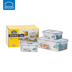 【用券立减5元】韩国乐扣乐扣微波炉专用饭盒 非玻璃PP材质冷藏保鲜盒超值3件套 17R03