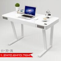 电脑桌台式家用简约现代书桌简易写字台钢化玻璃音响桌子