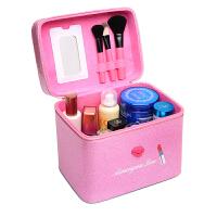 韩国多层化妆包大号化妆盒便携旅行大容量简约可爱手提收纳化妆箱