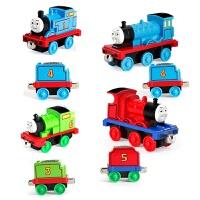 儿童托马斯小火车套装合金回力滑行轨道大号车头全套玩具1-3-6岁 4个车厢