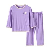 儿童睡衣夏季薄款男女童无痕家居服宝宝小孩长袖空调服套装