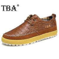 牛头酋长新款男鞋潮鳄鱼纹男皮鞋真皮休闲鞋时尚英伦运动板鞋8082