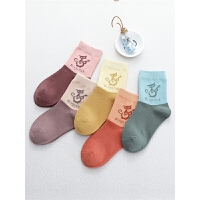 女童袜子春秋中筒袜薄款儿童秋冬中大童女孩全棉秋天棉袜