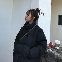 女2018新款加厚短款冬季保暖外套宽松面包服羽绒棉衣