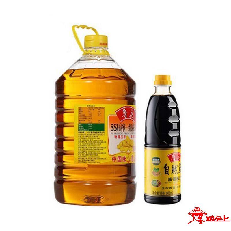 鲁花-5L 5S压榨一级花生油(赠500ml酱油)