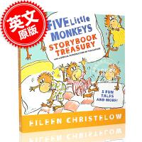 现货 英文原版 Five Little Monkeys Storybook Treasury 五只小猴子 儿童绘本 4-7岁