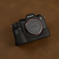 手工牛皮索尼A7R3 A9 A7M3 A7RM3 A73A7RIII相机皮套包手柄保护套