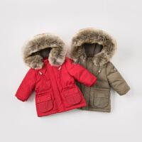 davebella戴维贝拉儿童冬装新款羽绒外套宝宝保暖羽绒服DB8695