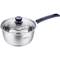 顺达奶锅不锈钢汤锅加厚单柄煮面热奶锅大容量18cm电磁炉燃气通用