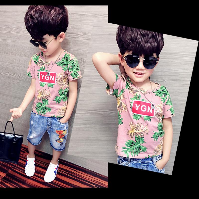 童装男童短袖t恤夏装夏季儿童半袖体恤纯棉