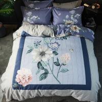 全棉纯棉四件套加厚被套床单2.0米1.8床品磨毛秋冬床上用品三件套定制