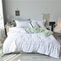 夏天小清新床上三件套1.2m 四件套全棉纯棉床单被套田园床品