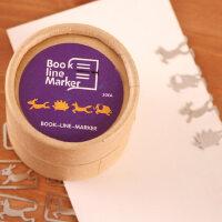 善书者BookMark 创意金属书签/紫色小动物 SQ-JS039 20枚盒装迷你卡通造型金属书签可爱文艺小清新男女孩