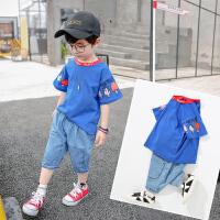 童装男童套装夏装儿童帅气短袖两件套夏季宝宝洋气潮