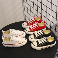 儿童帆布鞋女童小白鞋春秋季男童布鞋宝宝休闲板鞋