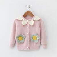 女宝宝秋冬装毛衣1-5岁婴幼儿外套0小女孩女童水貂绒针织开衫