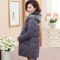妈妈冬装棉衣中长款40-50岁棉袄中老年女装羽绒加厚中年外套