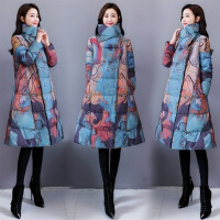 冬天棉衣外套民族风旗袍棉袍棉袄A版女士防寒服棉大衣。 图片色 X