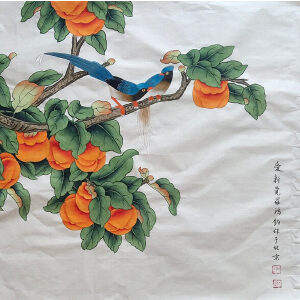 金鸿钧 当代画鸟画代表人物,领袖之一 经典花鸟作品