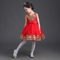 儿童礼服公主裙蓬蓬纱裙女童春礼服裙婚纱花童礼服裙舞台走秀演出