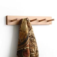 实木壁挂衣帽架衣钩 时尚创意多功能挂衣架墙壁上置物架
