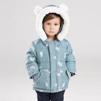 [2件3折价:198.9]davebella戴维贝拉童装冬季新款男童宝宝90绒保暖羽绒服DBM11985